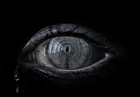 Eye, Emotions, Dark, Cry, Photoshop, Sad