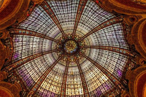 Paris, Department Stores, France, Architecture, Dome
