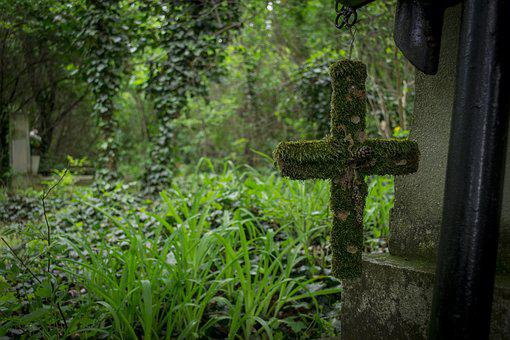Cemetery, Cross, Graves