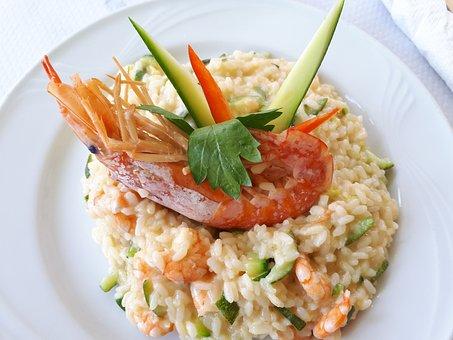 Risotto Frutti Di Mare, Italian, Food, Shrimp, Lunch