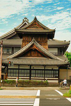 Japan, Traditional Building, Kyoto, Walking, Crosswalk
