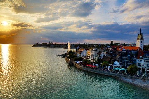 Friedrichshafen, City, Water, Lake, Lake Constance