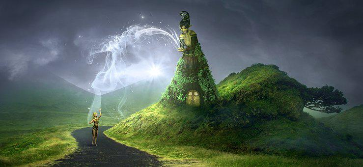 Fantasy, Mystical, Mythical Creatures, Fee, Landscape