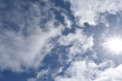 Clouds, Texture, Sky, Outdoor, Sun, Blue, Air, Season