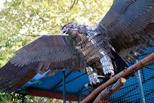 Iron, Eagle, Bird, Park, Feathers, The Product, Metal