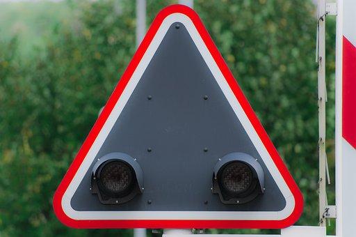 Level Crossing, Railway, Warning, Traffic Lights, Red