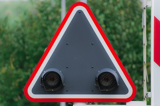 Level Crossing, Railway, Warning, Traffic Lights, Red