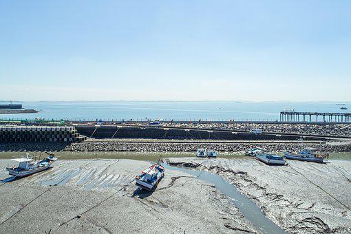 Sea, Dock, Times, Sky, Landscape, Coastal, Scenery