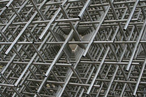 Modern Art, Steel Pipes, Braid, Schwerin