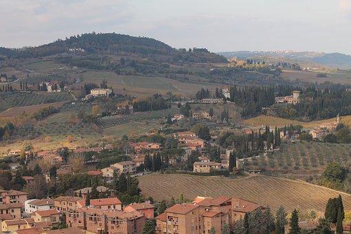 Saint Gimignano, Tuscany, Italy, Outdoor, Towers