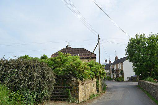Small, Street, England, Netherbury, Houses, Village
