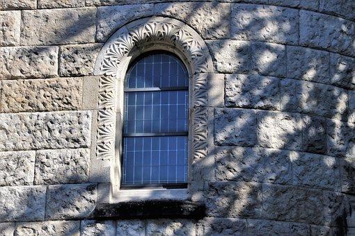 Window, Facade, Lake Dusia, Stone, The Walls Of The