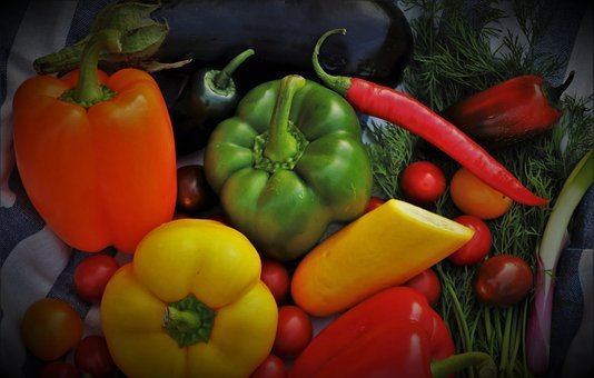 Still Life, Vegetables, Yellow, Food, Green, Blurry