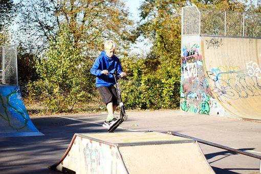 Skater, Akterpark, Skating, Youth, Skateboard, Sport