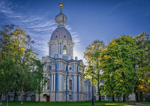 Monastery, Church, St Petersburg, Architecture