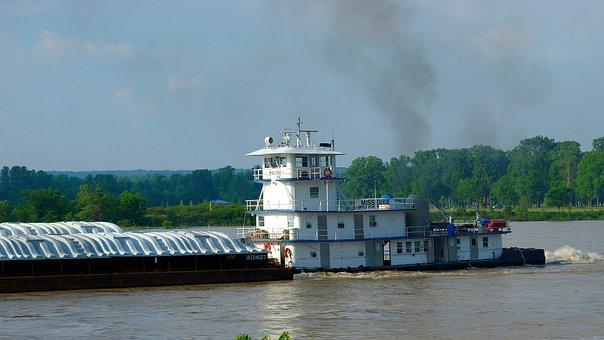 Arkansas River Tug, Tug, Tugboat, Arkansas, River, Boat