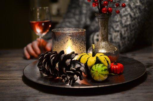 Pumpkin, Halloween, Autumn, Light, Candle