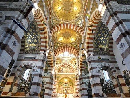 Marseille, Basilica, Notre-dame-de-la-garde, Nave