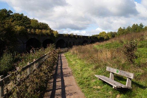 Bench, Path, Bridge, Arch