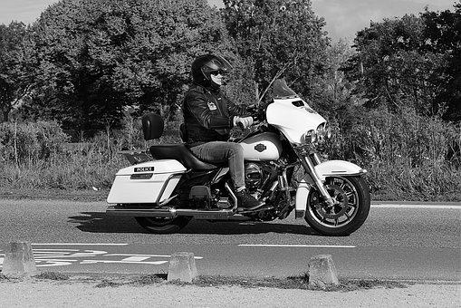 Motorbike, Biker, Motorcycle, Motorcyclist, Vehicle