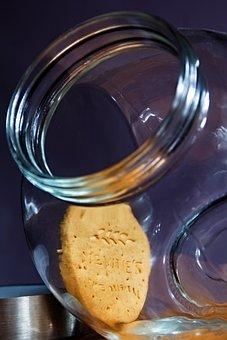 Jar, Glass, Biscuits