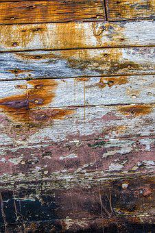 Texture, Old Boat, Wood, Peeling Paint, Surface, Boards
