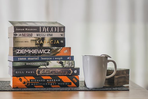 Book, Stack, Literature, Mug, Relaxation, Reading