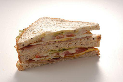 Club Sandwich, Ham, Breakfast