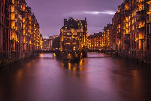 Hamburg, Speicherstadt, Architecture, City, Building