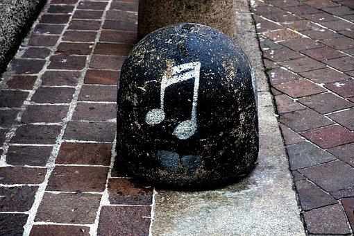 Note, Stone, Clef, Music, Art, Bollard, Limit