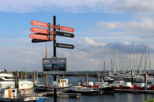 Ships, Port, Yerseke, Zeeland, Maritime, Easter Schelde