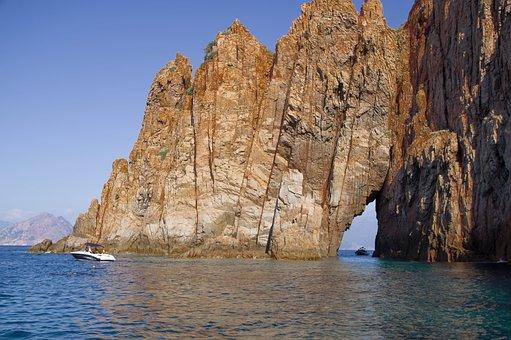 Corsican, Piana, Creeks, Cliffs, Erosion