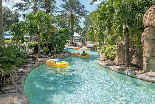 Water Park, Lazy River, Florida, Tropical, Outdoor