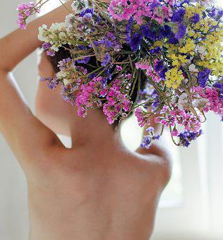 Baby, Flowers, Childhood, In The Summer Of