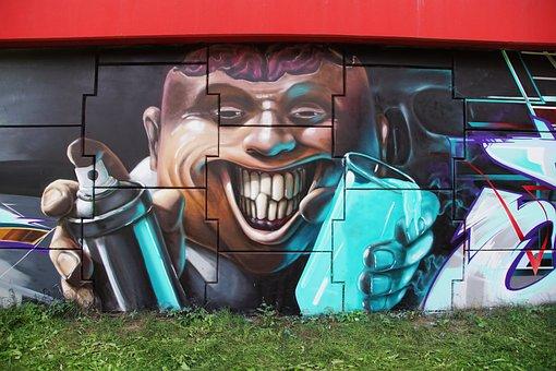 Graffiti, Spray, The Art Of, City, Fresco, Grunge
