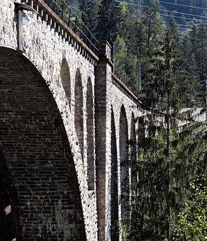 Railway Bridge, Glacier Express, Switzerland