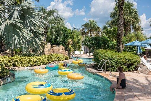 Water Park, Lazy River, Florida, Nature, Landscape