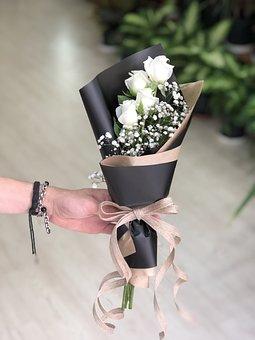 Rose, Bouquet, Flower, Romantic, Love, Leaves