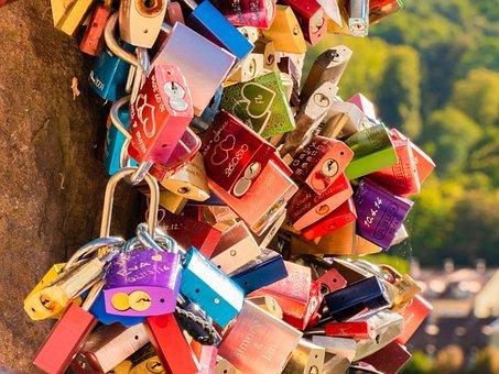 Castles, Love Locks, Symbol, Love Symbol, Colorful