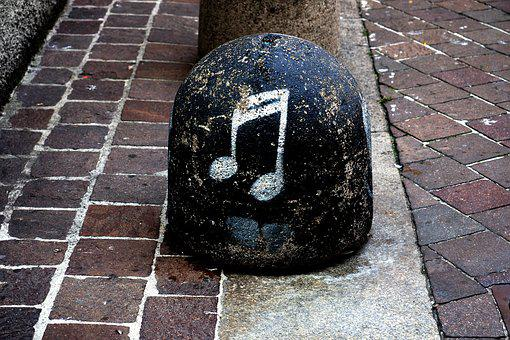 Note, Stone, Clef, Music, Art, Bollard, Limit