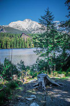Lake, Pleso, Nature, Mountains, Landscape, Panorama
