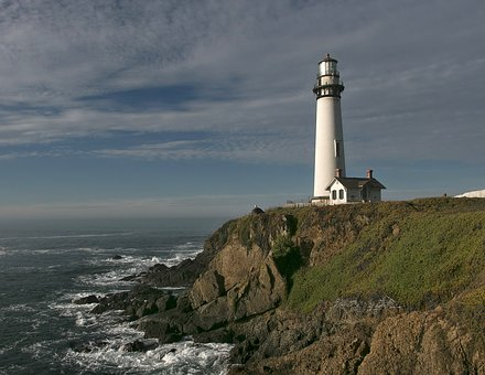 Lighthouse, Pigeon Point, California, Pacific