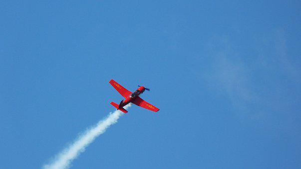 Aircraft, Air, Cloud, Sky, Flight, Duo, Red, White