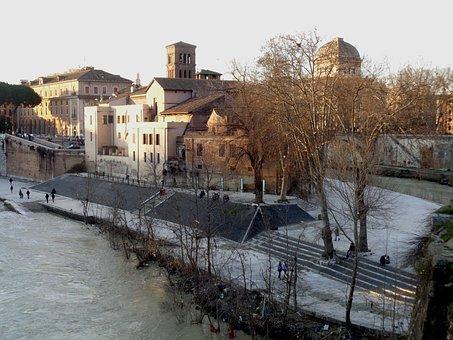 Rome, Tiber, Tiber Island