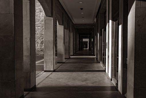 Passage, Corridor, Pedestrian, Shopping Mall, City