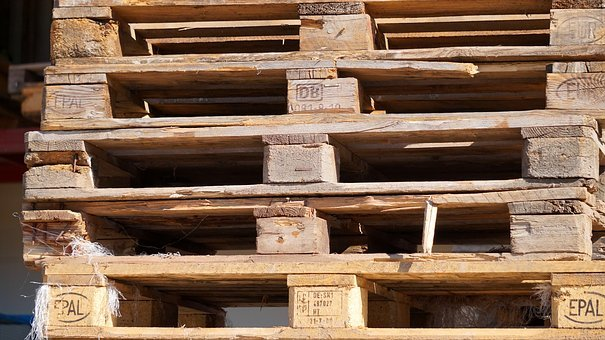 Pallets, Wood, Euro Pallets, Wooden Pallets, Stacked