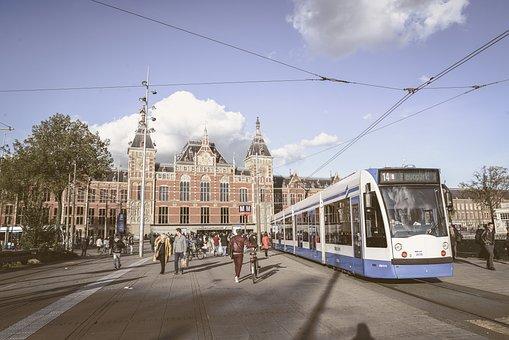 Amsterdam, Station, Netherlands, Railway, Train, Tracks