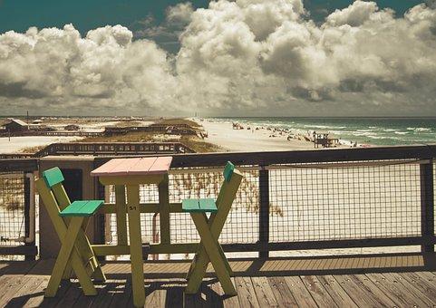 Beach, Pier, Recovery, Ocean, Sea, Summer, Vacations