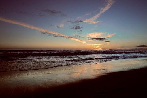 Sunset, Beach, Guaruja