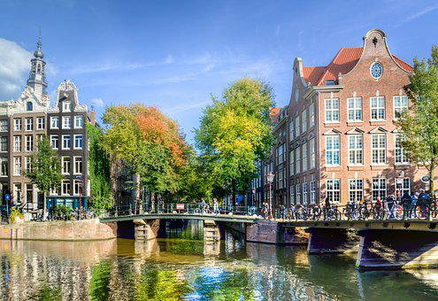 Amsterdam, Canal, Facade, Warehouses, Typical